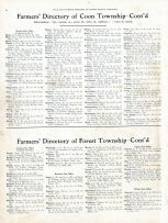 Directory - Coon Township and Forest Township, Vernon County 1915