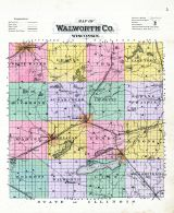 County Map, Walworth County 1891