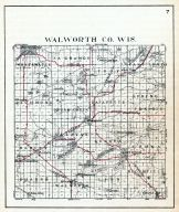 County Map, Walworth County 1921