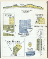 Zenda, Martinsville, Fayette, Troy Centre, Lake Beulah, Oak Park, Walworth County 1921
