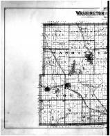 Washington and Ozaukee Counties Outline Map - Left, Washington and Ozaukee Counties 1892