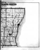 Washington and Ozaukee Counties Outline Map - Right, Washington and Ozaukee Counties 1892