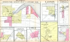 Delafield, Graham Park, Audley's Plat, Lannon, Merton, Genesee Depot, Vernon, Utica, Beg Bend, Rugee's Plat, Waukesha County 1914
