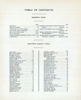 Table of Contents, Waupaca County 1923