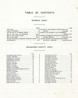 Table of Contents, Waushara County 1924