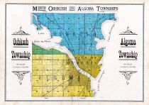 Oshkosh and Algoma Townships, City of Oshkosh, Winnebago County 1909