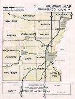 Winnebago County Highway Map, Winnebago County 1951c