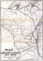 Wisconsin 1857 Milwaukee and Superior Railroads 17x12
