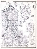 Ashland County, Wisconsin State Atlas 1956 Highway Maps