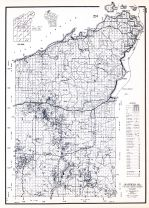 Bayfield County, Wisconsin State Atlas 1956 Highway Maps