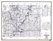 Chippewa County, Wisconsin State Atlas 1956 Highway Maps