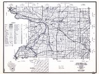 Columbia County, Wisconsin State Atlas 1956 Highway Maps