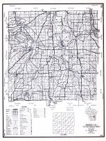 Dodge County, Wisconsin State Atlas 1956 Highway Maps