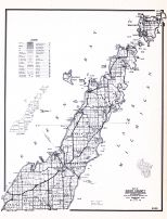 Door County, Wisconsin State Atlas 1956 Highway Maps