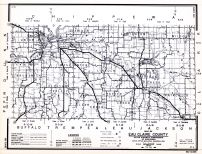 Eau Claire County, Wisconsin State Atlas 1956 Highway Maps