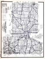 Fond Du Lac County, Wisconsin State Atlas 1956 Highway Maps