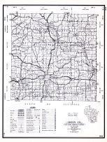 Green County, Wisconsin State Atlas 1956 Highway Maps