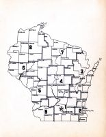 Index Map, Wisconsin State Atlas 1956 Highway Maps