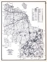 Iron County, Wisconsin State Atlas 1956 Highway Maps