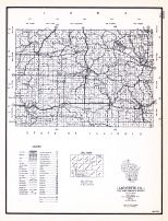 Lafayette County, Wisconsin State Atlas 1956 Highway Maps