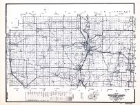 Marathon County, Wisconsin State Atlas 1956 Highway Maps