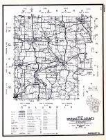 Marquette County, Wisconsin State Atlas 1956 Highway Maps