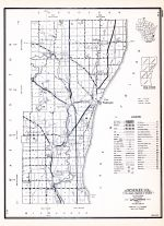 Ozaukee County, Wisconsin State Atlas 1956 Highway Maps