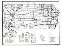Racine County, Wisconsin State Atlas 1956 Highway Maps