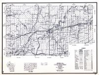 Rusk County, Wisconsin State Atlas 1956 Highway Maps