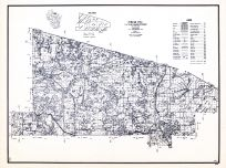 Vilas County, Wisconsin State Atlas 1956 Highway Maps