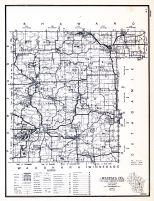 Waupaca County, Wisconsin State Atlas 1956 Highway Maps
