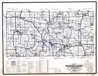 Waushara County, Wisconsin State Atlas 1956 Highway Maps