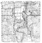 Port Edwards and Saratoga Townships, Nekoosa, Lake Ross, Wood County 1957