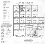 Wood County Index Map, Wood County 1957