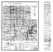 Wood County Map, Wood County 1957