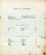 Table of Contents, Harrison County 1886