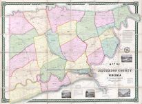 Jefferson County - WV formerly VA 1852 Wall Map 36x48, Jefferson County - WV formerly VA 1852 Wall Map