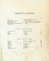 Table of Contents, Wood County 1886