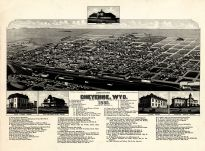 Cheyenne 1882 Bird's Eye View 24x32, Cheyenne 1882 Bird's Eye View