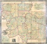Greene County and Greensboro 1856 Wall Map 44x46, Greene County and Greensboro 1856 Wall Map