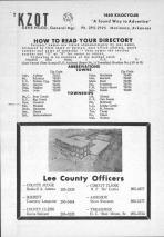 Index and Legend, Lee County 1969