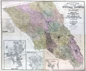 Sonoma County 1900 Wall Map 44x52, Sonoma County 1900 Wall Map
