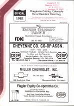 Title Page, Cheyenne County 1981