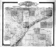 Logan County Outline Map, Logan County 1917