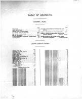 Table of Contents, Logan County 1917