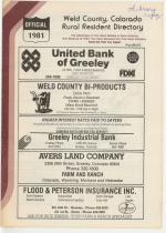 Title Page, Weld County 1981