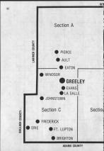 Index Map Key - left, Weld County 1984 and 1985