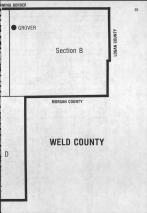 Index Map Key - right, Weld County 1984 and 1985