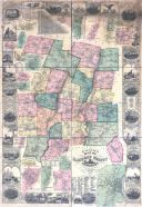 Hartford County 1855 Wall Map 44x63