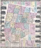 Litchfield County 1859 Wall Map 44x50, Litchfield County 1859 Wall Map